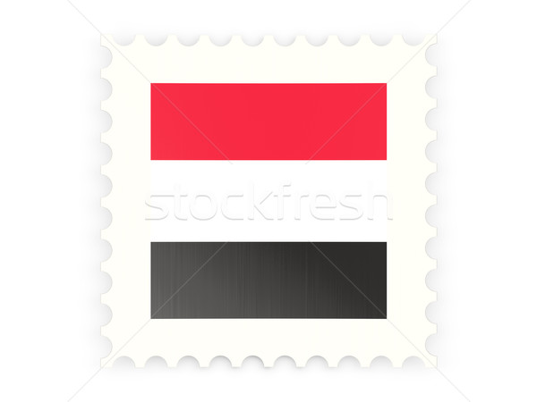 почтовая марка икона Йемен изолированный белый знак Сток-фото © MikhailMishchenko