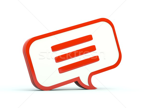 Foto stock: Chatear · burbuja · icono · rojo · diseno · idea · chat