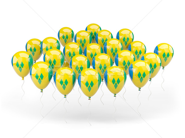 Stockfoto: Ballonnen · vlag · geïsoleerd · witte · land