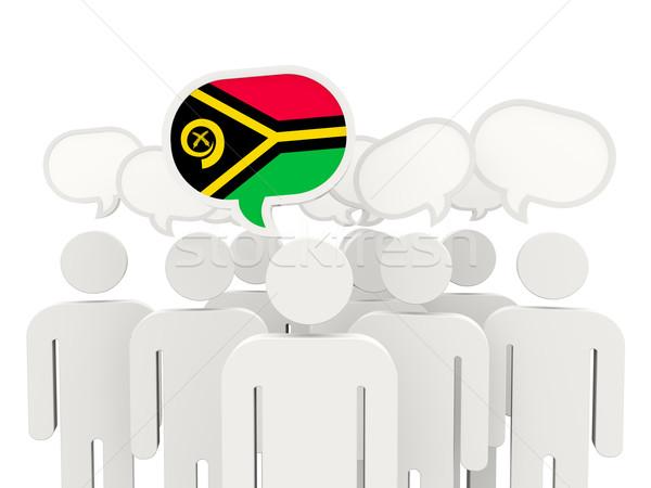Pessoas bandeira Vanuatu isolado branco reunião Foto stock © MikhailMishchenko