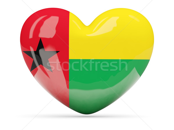 Heart shaped icon with flag of guinea bissau Stock photo © MikhailMishchenko