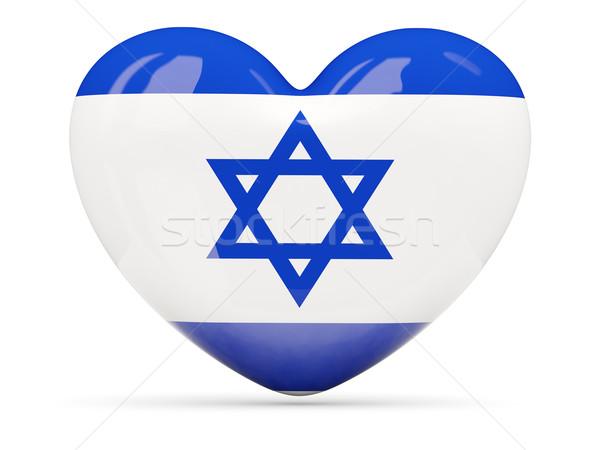 Hart icon vlag Israël geïsoleerd Stockfoto © MikhailMishchenko