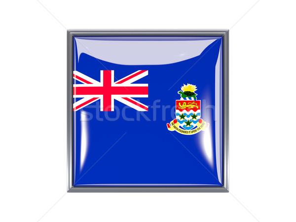 Square icon with flag of cayman islands Stock photo © MikhailMishchenko