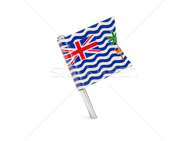 Zászló tő brit indiai óceán terület Stock fotó © MikhailMishchenko