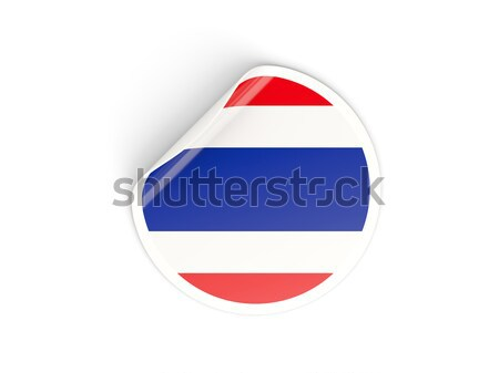 Etiqueta bandera Costa Rica aislado blanco viaje Foto stock © MikhailMishchenko
