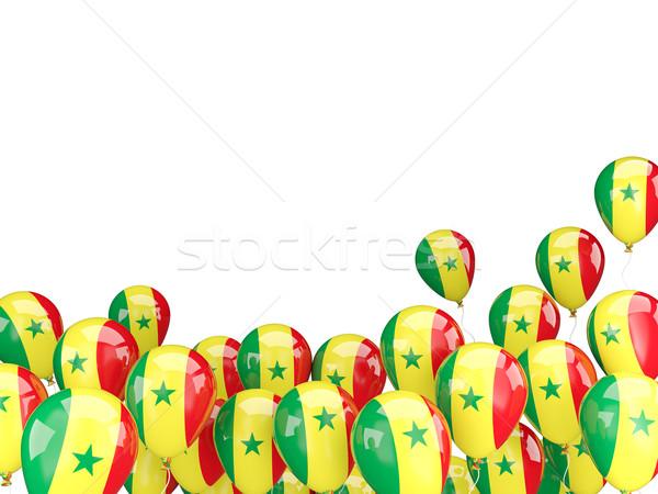 Flying balloons with flag of senegal Stock photo © MikhailMishchenko