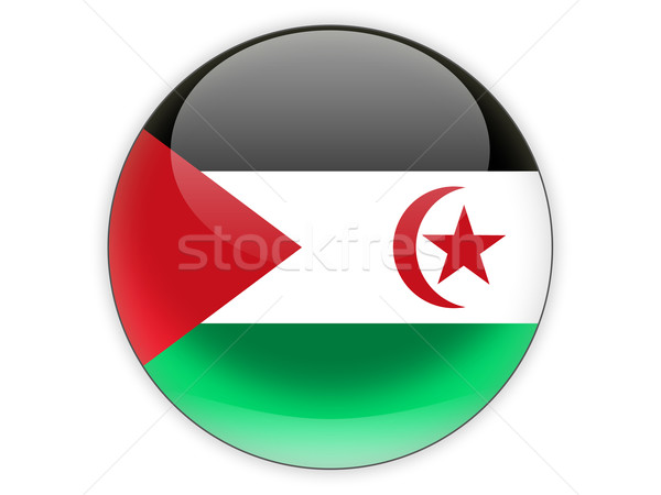 Icon vlag westerse sahara geïsoleerd witte Stockfoto © MikhailMishchenko