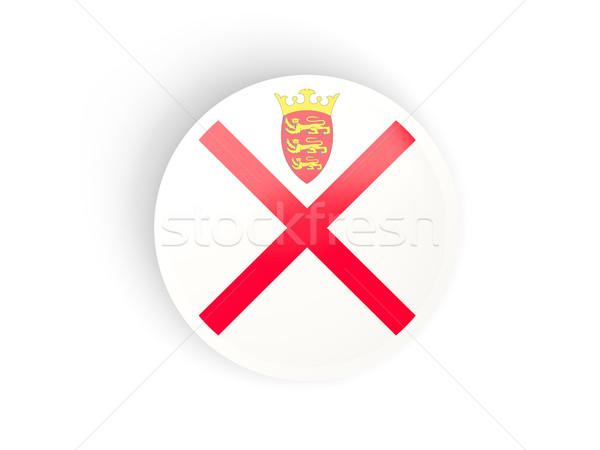 Round sticker with flag of jersey Stock photo © MikhailMishchenko