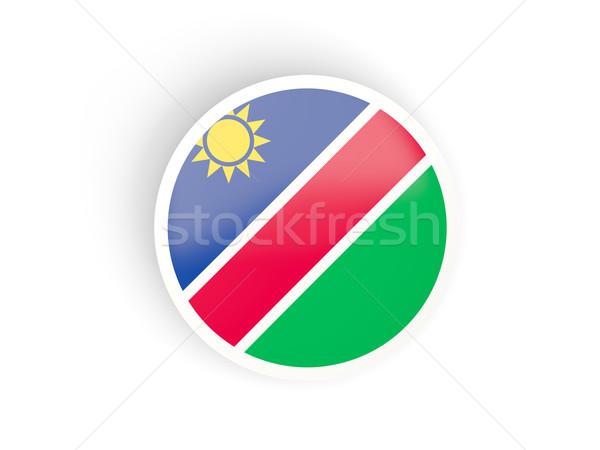 Etiket bayrak Namibya yalıtılmış beyaz seyahat Stok fotoğraf © MikhailMishchenko