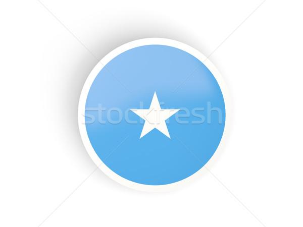 Naklejki banderą Somali odizolowany biały podróży Zdjęcia stock © MikhailMishchenko
