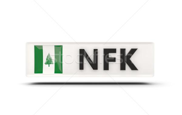 Square icon with flag of norfolk island Stock photo © MikhailMishchenko