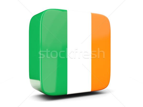 Cuadrados icono bandera Irlanda 3d aislado Foto stock © MikhailMishchenko