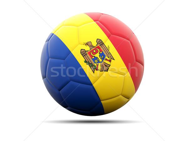 Futball zászló Moldova 3d illusztráció futball sport Stock fotó © MikhailMishchenko