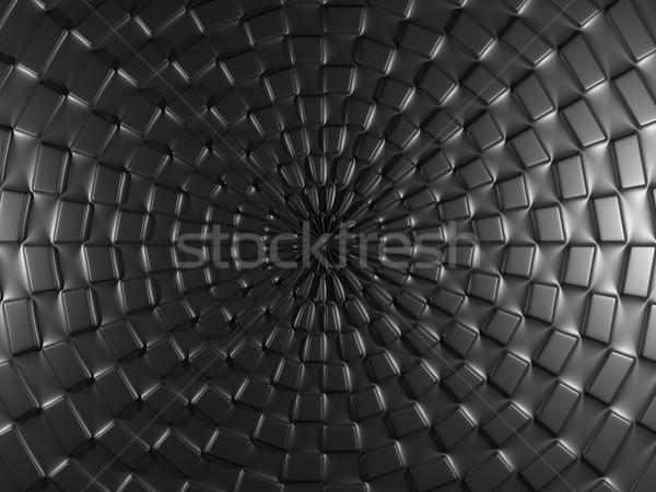 Black background with square elements. Stock photo © MikhailMishchenko