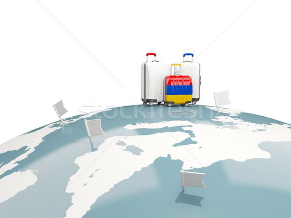 荷物 フラグ 3  袋 先頭 世界中 ストックフォト © MikhailMishchenko