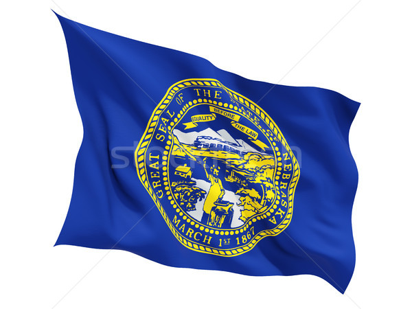 Flag of nebraska, US state fluttering flag Stock photo © MikhailMishchenko