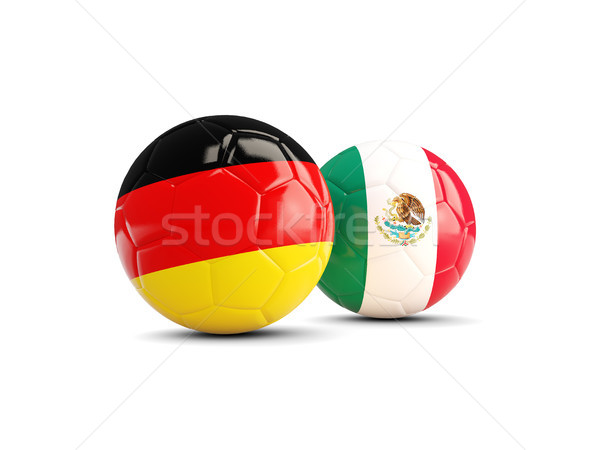 Germany and Mexico soccer balls isolated on white background Stock photo © MikhailMishchenko