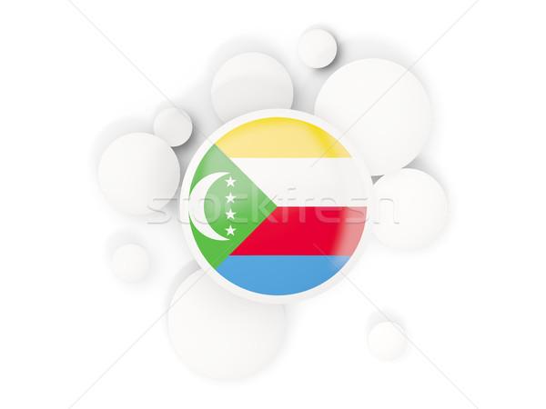 Round flag of comoros with circles pattern Stock photo © MikhailMishchenko