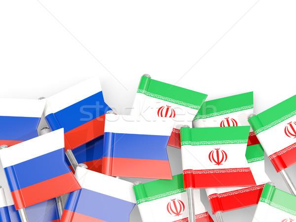 Bayrak yalıtılmış beyaz 3d illustration dil siyaset Stok fotoğraf © MikhailMishchenko