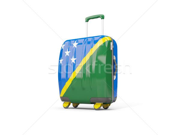 Bagaglio bandiera valigia isolato bianco Foto d'archivio © MikhailMishchenko
