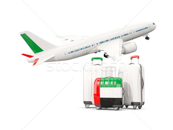 Csomagok zászló arab három szatyrok repülőgép Stock fotó © MikhailMishchenko