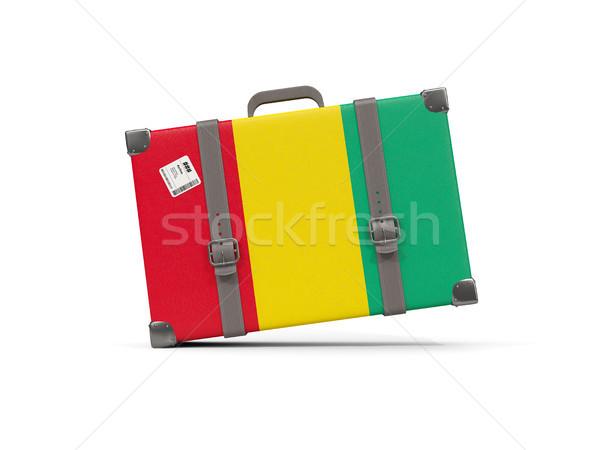 Bagaj bayrak Gine bavul yalıtılmış beyaz Stok fotoğraf © MikhailMishchenko