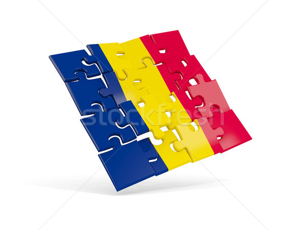 Puzzle flag of chad isolated on white Stock photo © MikhailMishchenko