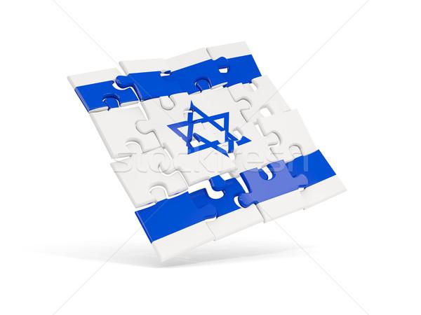 Puzzle pavillon Israël isolé blanche 3d illustration Photo stock © MikhailMishchenko