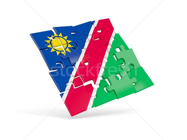 головоломки флаг Намибия изолированный белый 3d иллюстрации Сток-фото © MikhailMishchenko