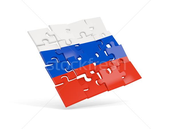 Rompecabezas bandera Rusia aislado blanco 3d Foto stock © MikhailMishchenko