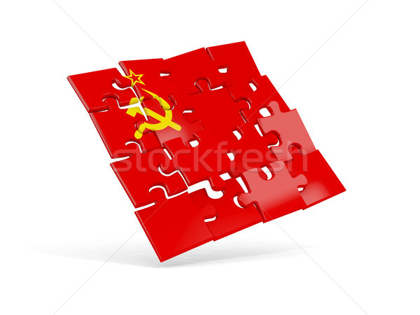 Bilmece bayrak sscb yalıtılmış beyaz 3d illustration Stok fotoğraf © MikhailMishchenko