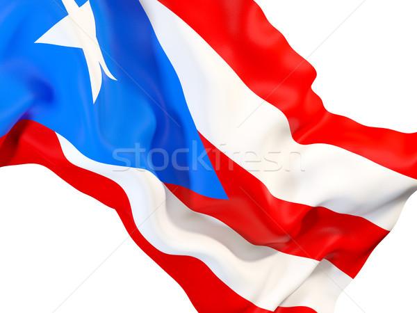 Vlag Puerto Rico 3d illustration reizen Stockfoto © MikhailMishchenko