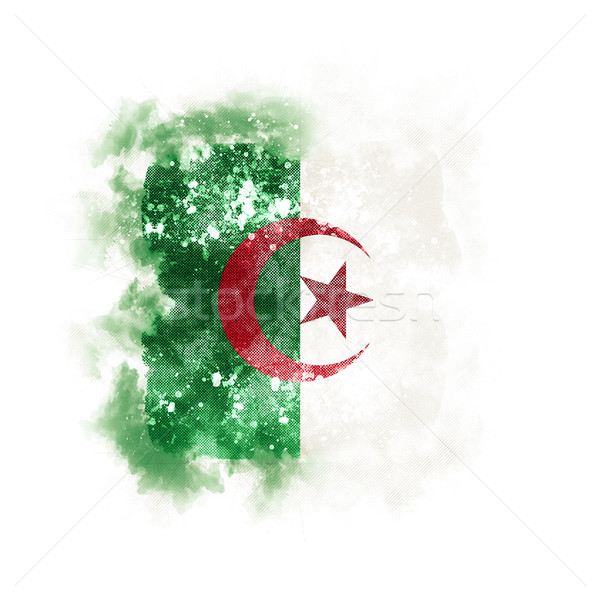 Square grunge flag of algeria Stock photo © MikhailMishchenko