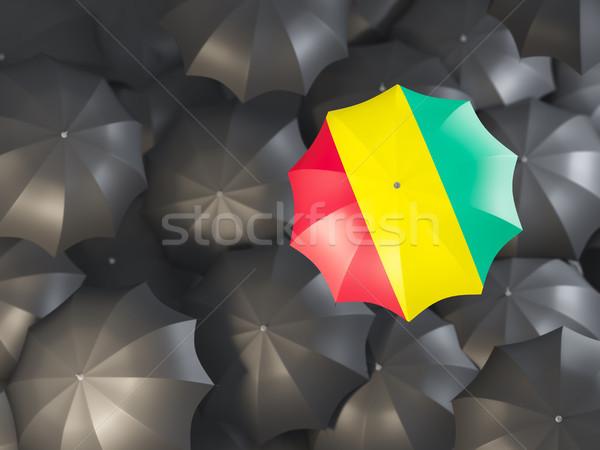 şemsiye bayrak Gine üst siyah Stok fotoğraf © MikhailMishchenko