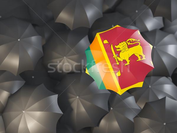 зонтик флаг Шри Ланка Top черный Сток-фото © MikhailMishchenko