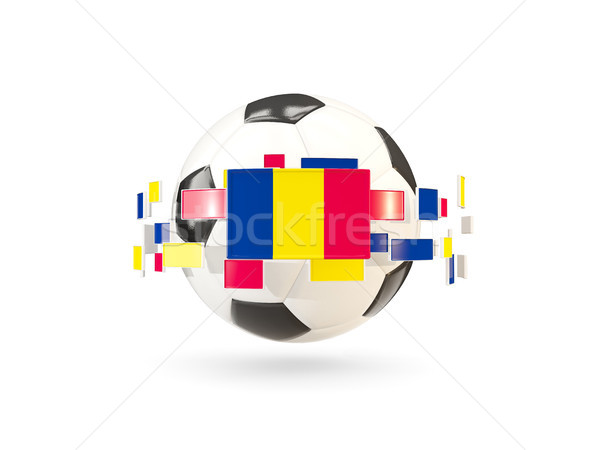 Soccer ball with line of flags. Flag of chad Stock photo © MikhailMishchenko