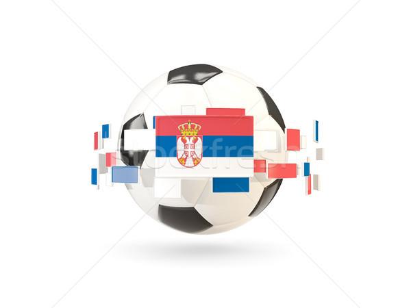 Piłka line flagi banderą Serbia Zdjęcia stock © MikhailMishchenko