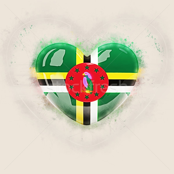сердце флаг Доминика Гранж 3d иллюстрации любви Сток-фото © MikhailMishchenko
