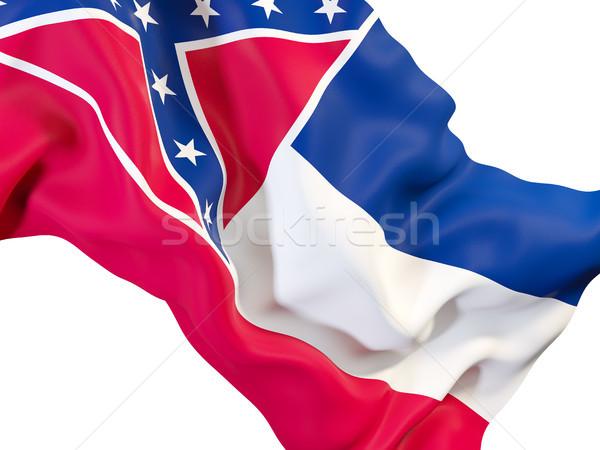 Mississippi zászló közelkép Egyesült Államok helyi zászlók Stock fotó © MikhailMishchenko