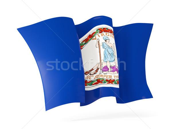 Virginia vlag icon Verenigde Staten Stockfoto © MikhailMishchenko