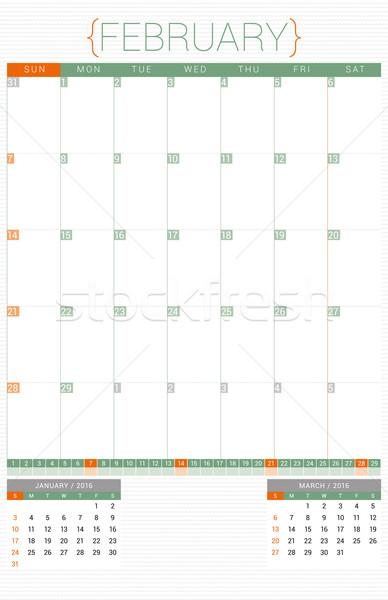 Naptár tervező 2016 design sablon hét iroda Stock fotó © mikhailmorosin