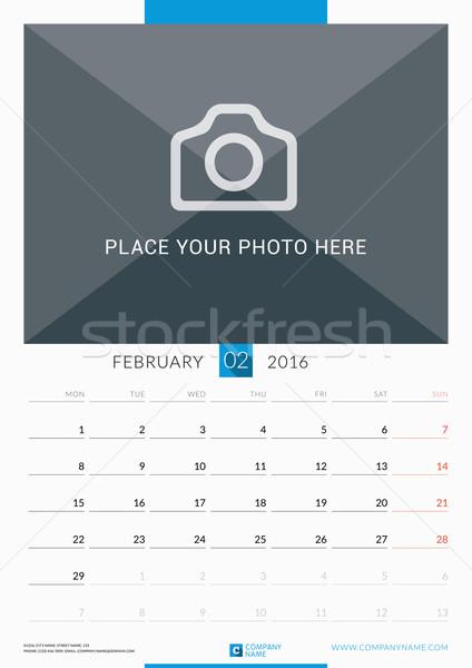 2016 fal havi naptár év vektor Stock fotó © mikhailmorosin