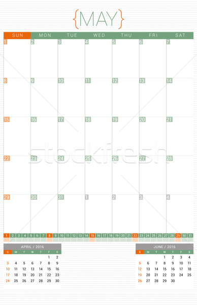 Calendrier planificateur 2016 modèle de conception semaine bureau Photo stock © mikhailmorosin