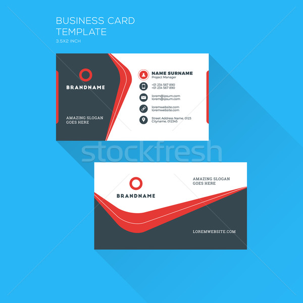 Corporate business card print template personal visiting card with add to lightbox download comp reheart Image collections