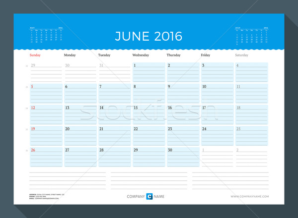 2016 havi naptár tervező év vektor Stock fotó © mikhailmorosin