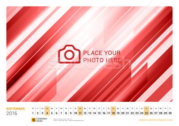 Fal havi vonal naptár 2016 év Stock fotó © mikhailmorosin