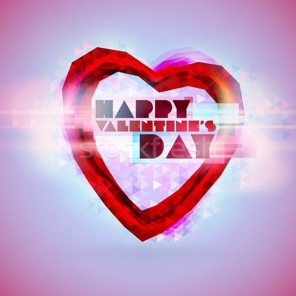 Stock photo: Valentines Day Abstract Background. Romantic Vector Illustration for Greeting Cards Design. Happy Va