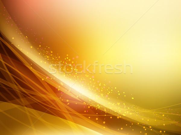 Abstract Golden Vector Waves Background. Vector Illustration Stock photo © mikhailmorosin