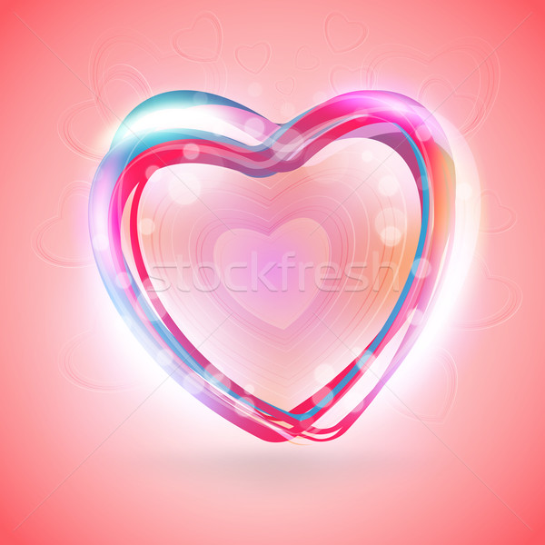 Valentines Day Abstract Background. Romantic Vector Illustration for Greeting Cards Design. Happy Va Stock photo © mikhailmorosin