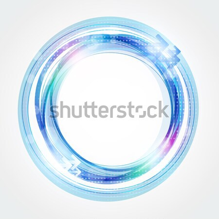 Abstract Blue Frame with Place for Text Stock photo © mikhailmorosin